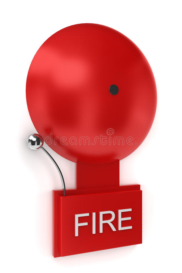 Fire alarm stock illustration