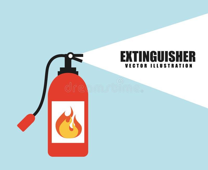 Fire alarm design stock illustration