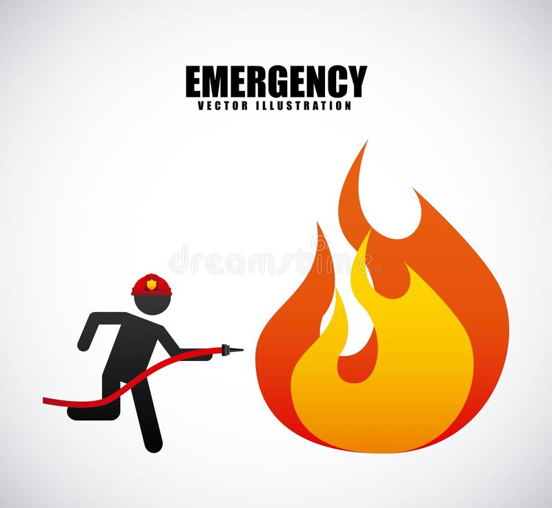 Fire alarm design stock illustration