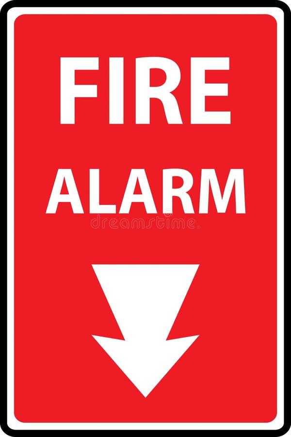 Fire alarm emergency signs royalty free illustration
