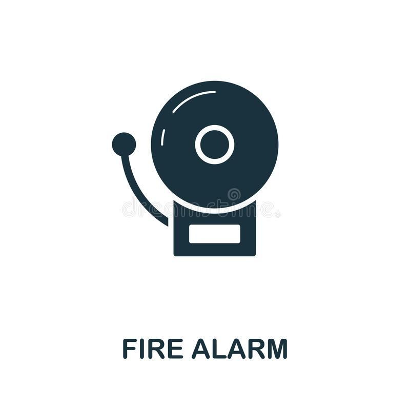 Fire Alarm icon. Creative element design from fire safety icons collection. Pixel perfect Fire Alarm icon for web design. Apps, software, print usage stock illustration