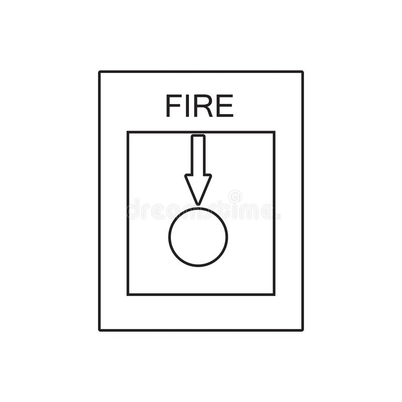 Fire alarm icon. Element of fire guardfor mobile concept and web apps icon. Outline, thin line icon for website design and. Development, app development on royalty free illustration