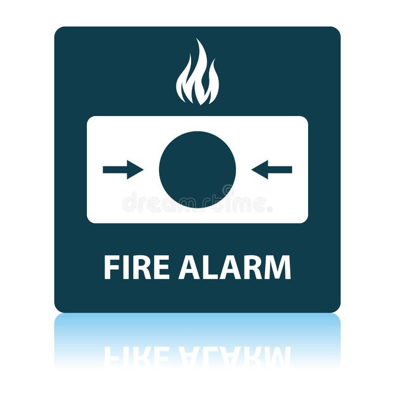 Fire Alarm Icon. Shadow Reflection Design. Vector Illustration royalty free illustration