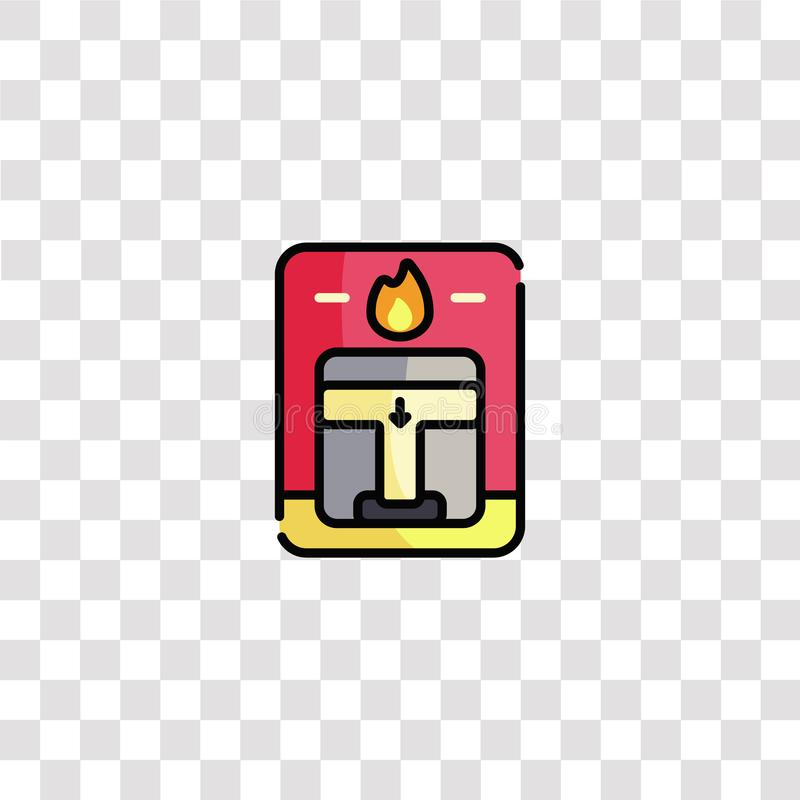 Fire alarm icon sign and symbol. fire alarm color icon for website design and mobile app development. Simple Element from. Firefighter collection isolated on vector illustration