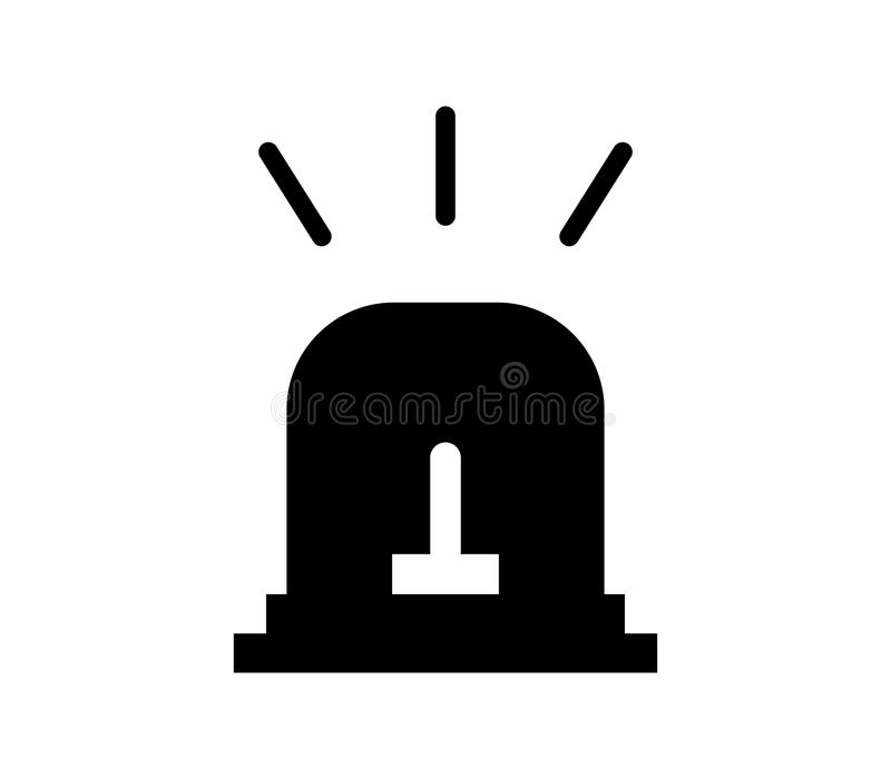 Fire alarm icon. On white background vector illustration