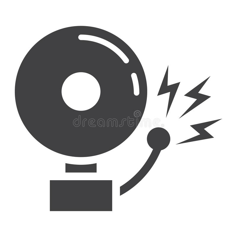 fire alarm solid icon intruder alarm and security stock vector rh dreamstime com