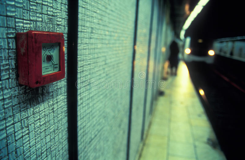 Fire Alarm In Undergound Royalty Free Stock Photography