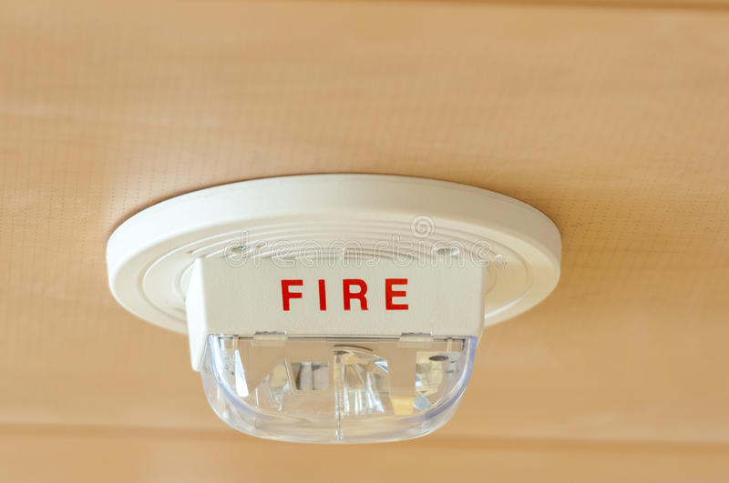 Fire alrm system. Fire alarm system installed on the ceiling royalty free stock image