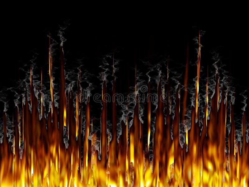 Fire&Smoke ilustração do vetor