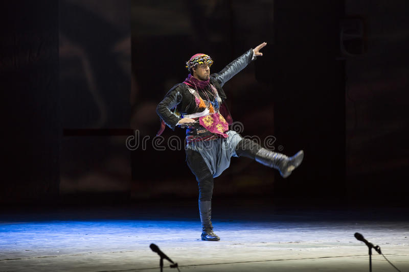 Fire of Anatolia. ANTALYA - JULY 17: Turkish dance ballet performs the show program Fire of Anatolia in the arena of the city of Antalya on July 17, 2015 in royalty free stock photo