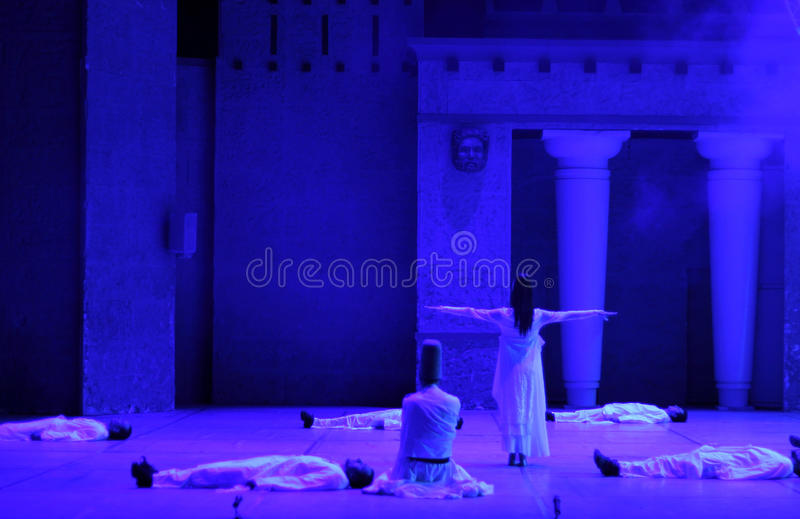 Download Fire Of Anatolia. Performance In The Amphitheater Editorial Photography - Image: 38619902