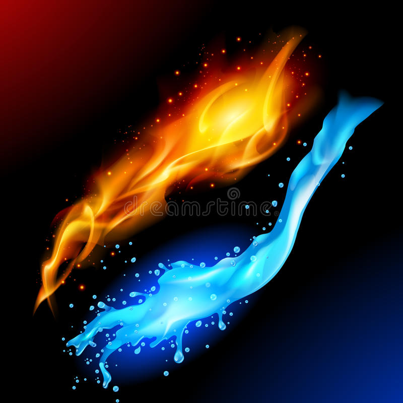 Free Fire And Water Royalty Free Stock Photo - 20515935