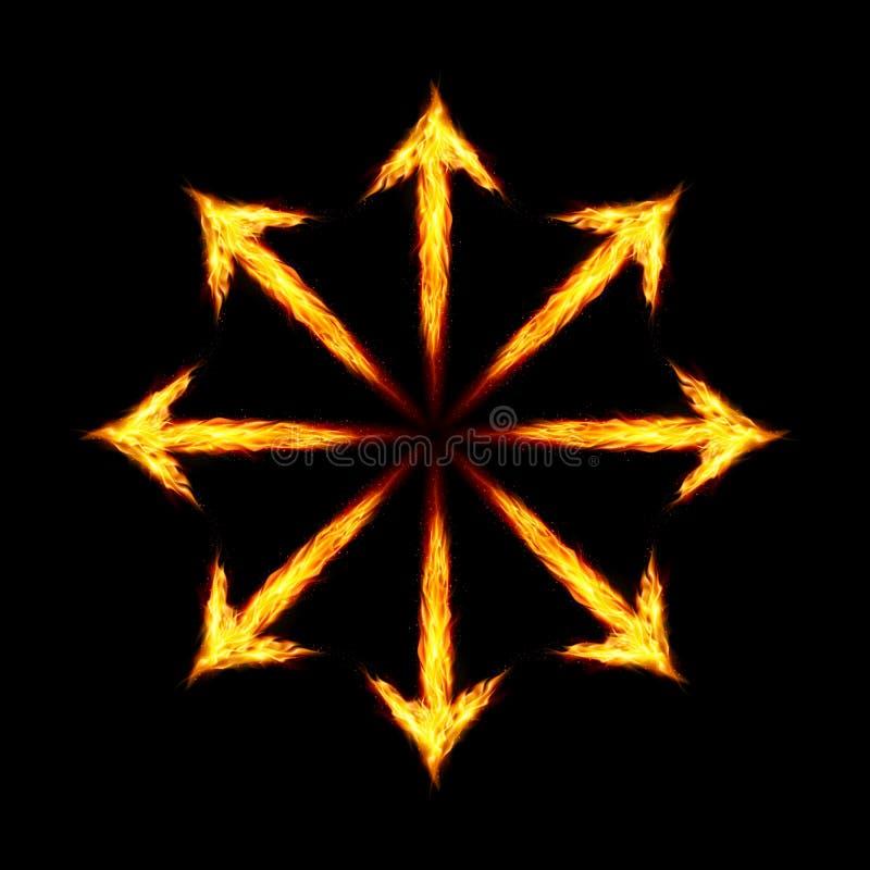 Fire arrows royalty free illustration