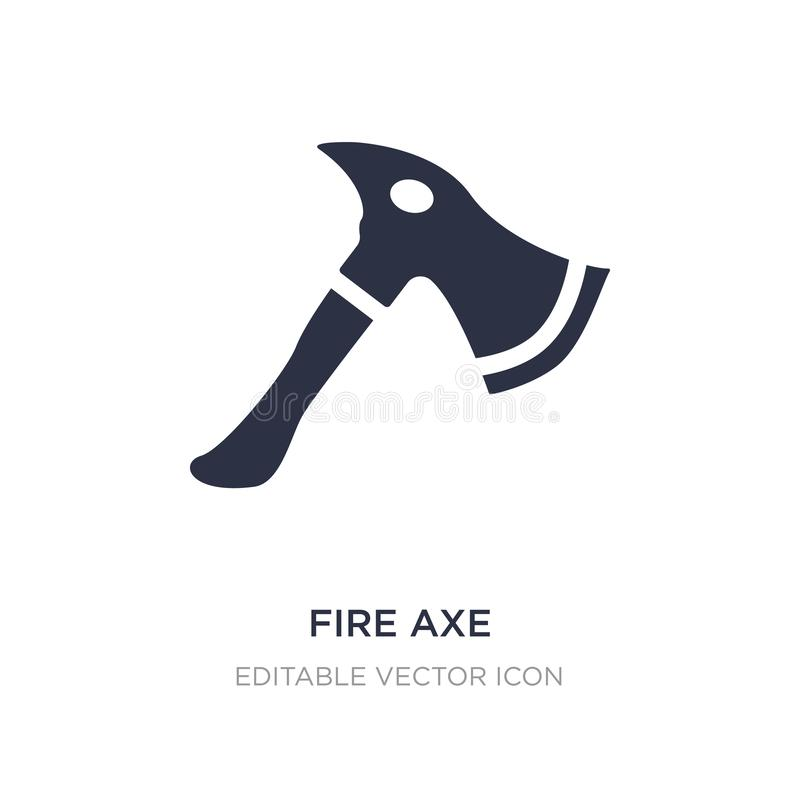Fire axe icon on white background. Simple element illustration from General concept. Fire axe icon symbol design royalty free illustration