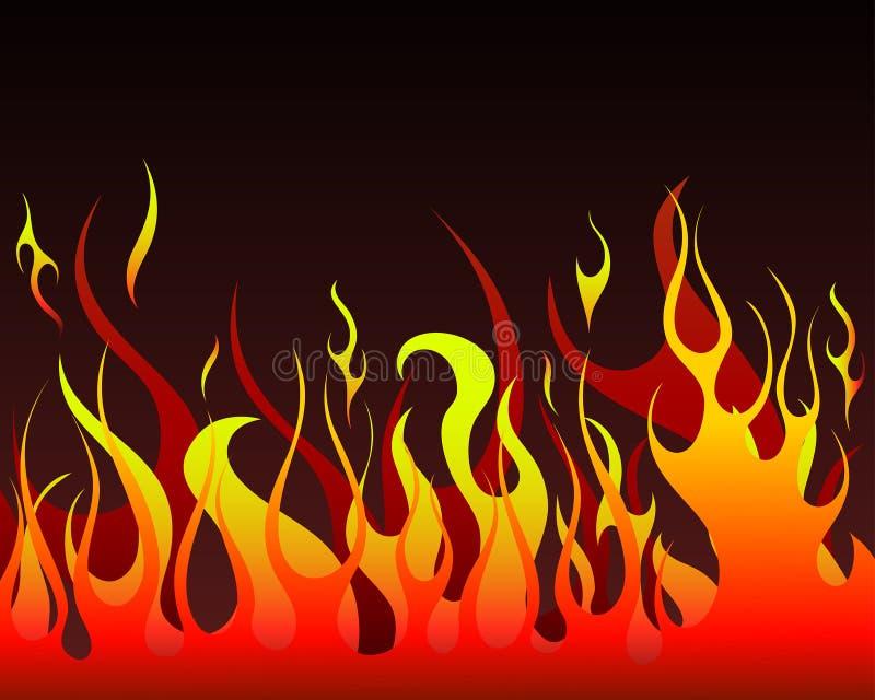 Download Fire background stock vector. Image of devils, design - 10584201