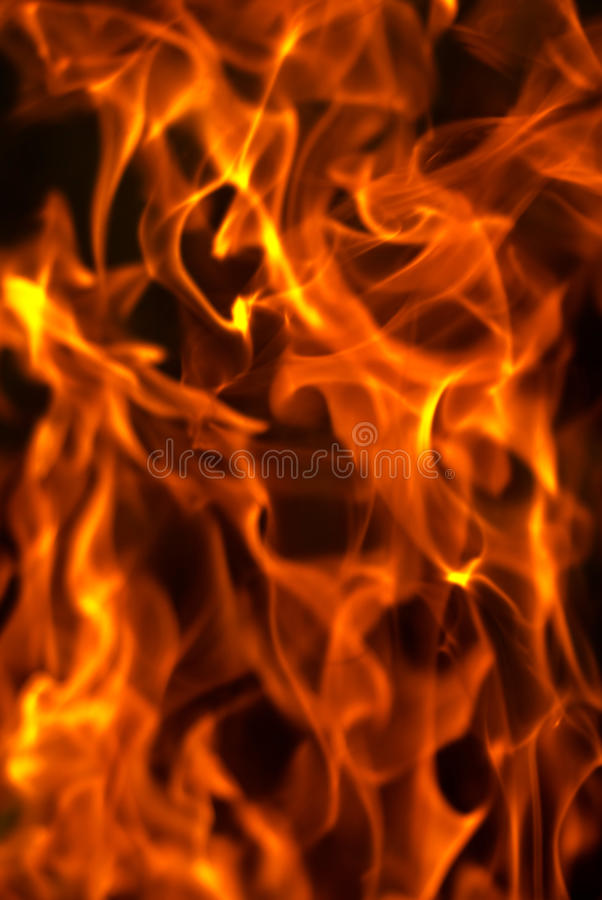 Fire background. Red fire on black background, photo stock photography