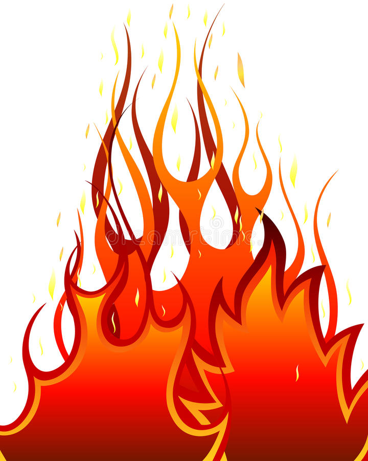 Download Fire background stock vector. Image of blazes, decorations - 12076658