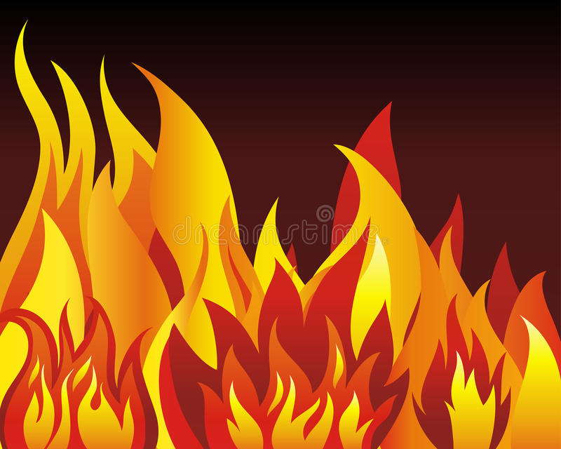 Download Fire background stock vector. Illustration of burn, fire - 12076980