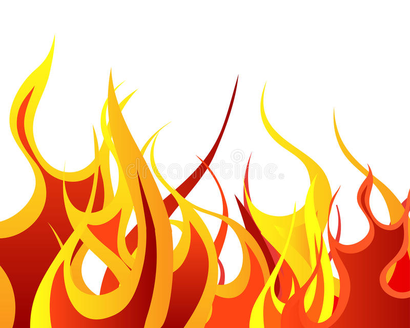 Fire background stock image