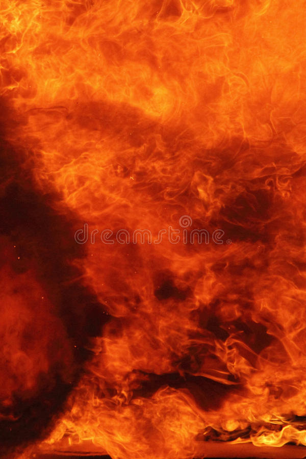 Fire background close up stock photography