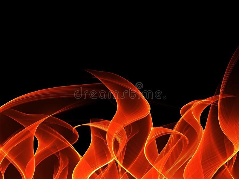 Fire background in the dark. illustration for design. Beautiful Fire background in the dark. illustration for design stock photos