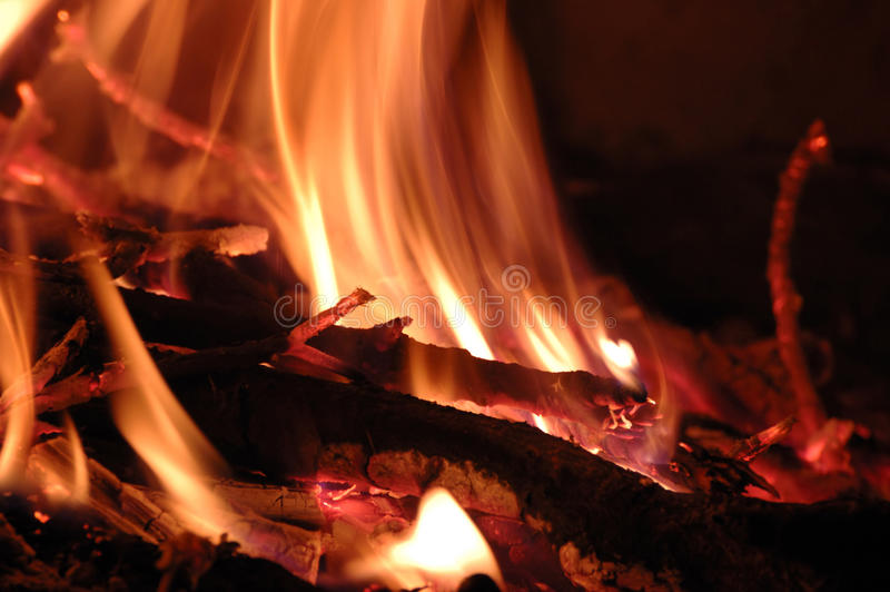 Fire background - live coals stock photos