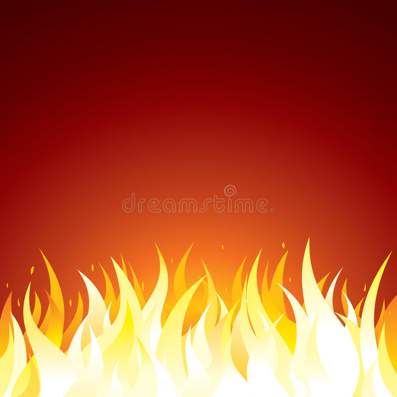 Fire Background Vector Template for Text or Design royalty free illustration