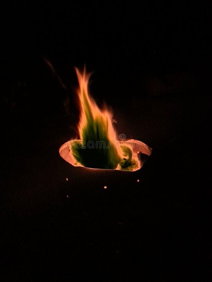 Fire. Backyard Bonfire Pit stock photos
