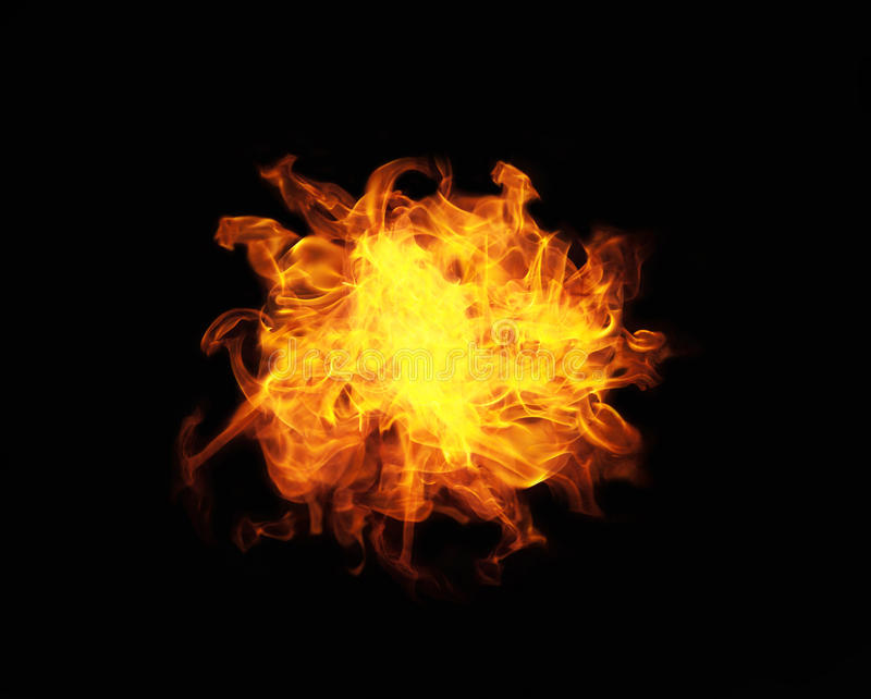 Fire ball. With free space for text royalty free stock photos