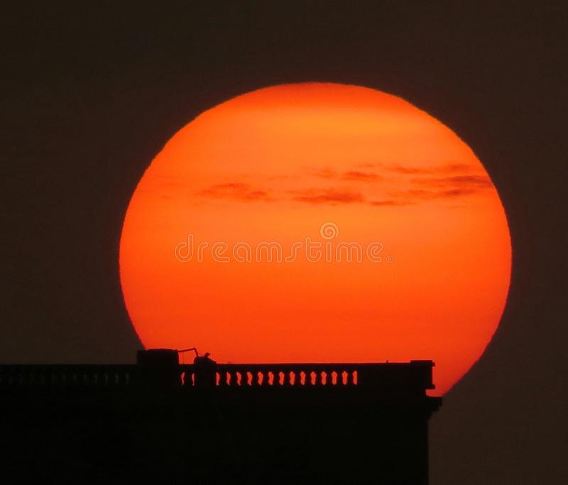 The Fire ball ! stock photo