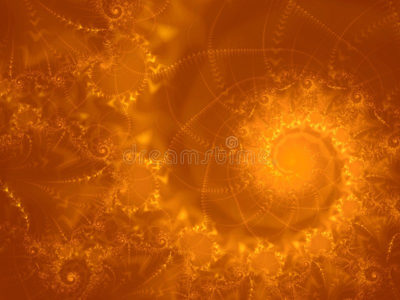 Fire Ball Fractal Spiral Flame stock illustration