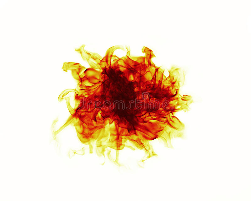 Fire ball on white background. Fire ball with free space for text on white background royalty free stock photography