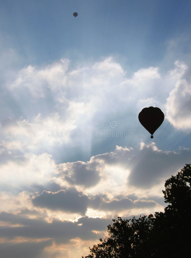 Fire ballons royalty free stock images