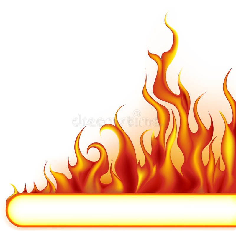 Fire-banner. Highly detailed vector illustration with flames
