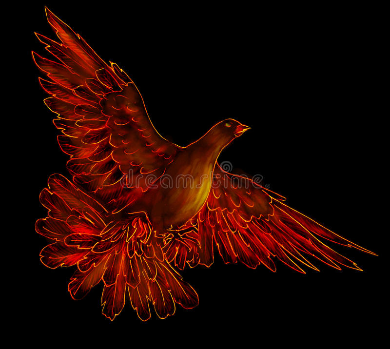 Download Fire bird - phoenix stock illustration. Image of wings - 18419502