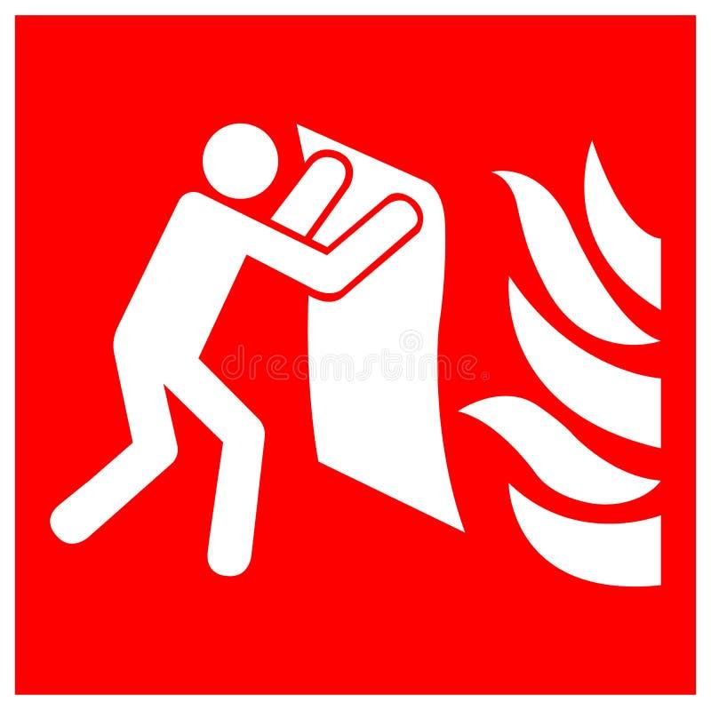 Fire Blanket Symbol Sign Isolate On White Background,Vector Illustration EPS.10 vector illustration