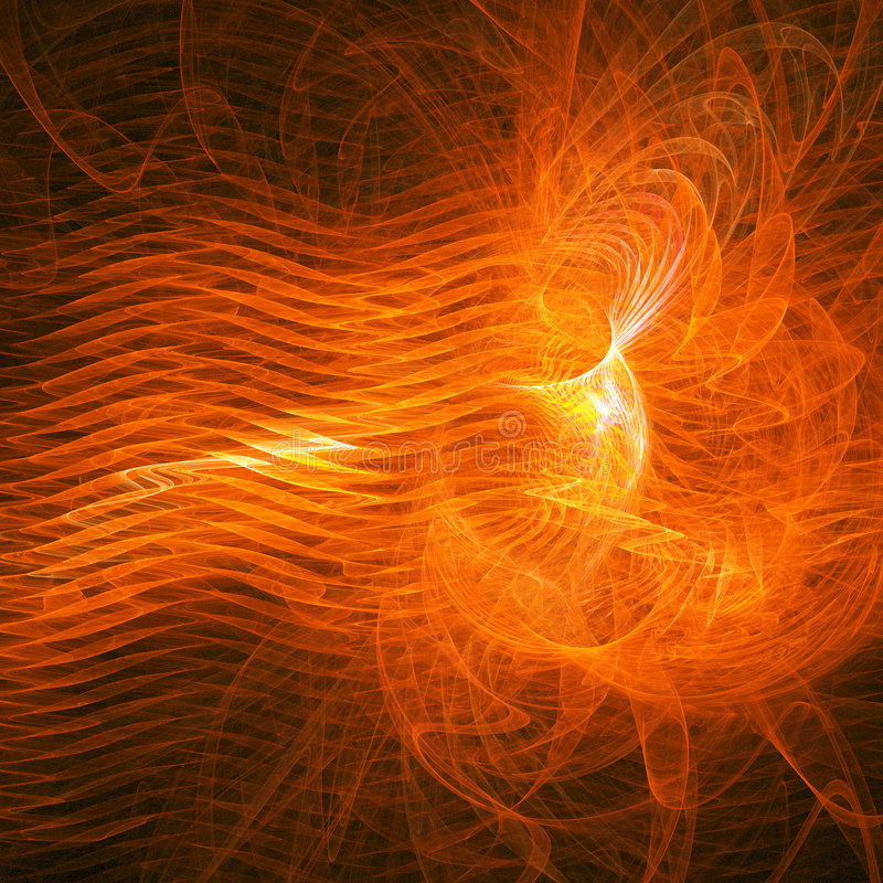 Fire blaster. Abstract bright fire blaster on dark background stock illustration