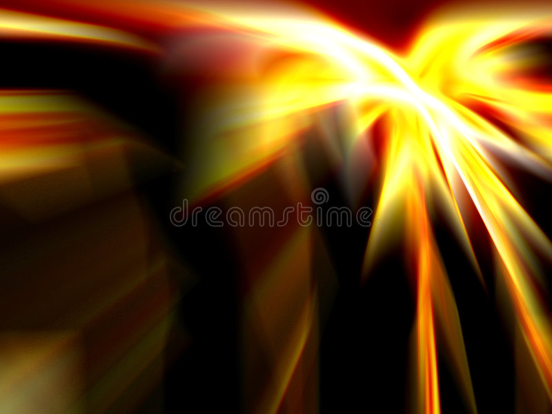 Fire blurs. Computer generated abstract fire blurs royalty free stock image