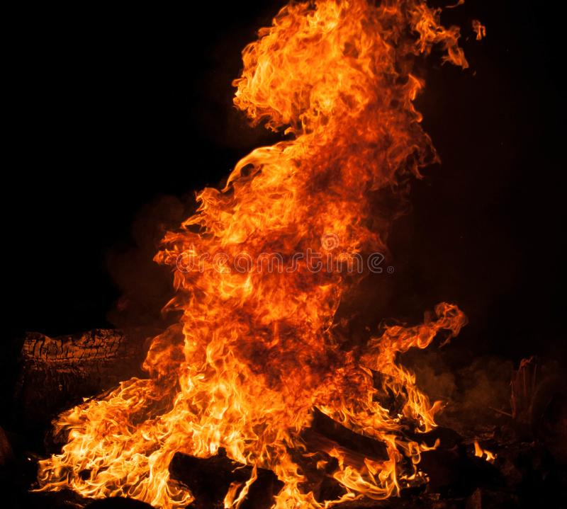 Fire. Bon fire at triangle beach royalty free stock photography