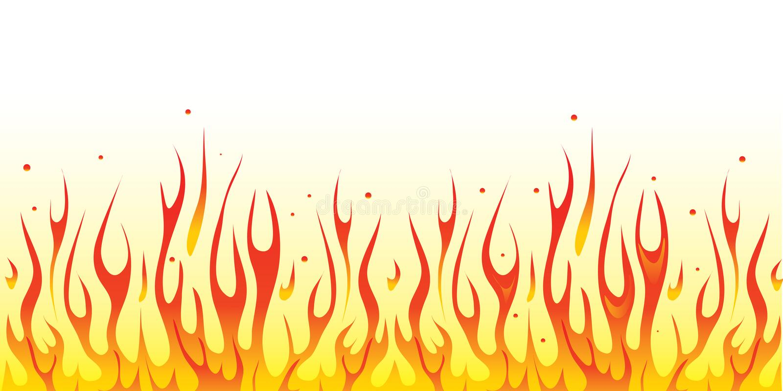 Fire border. Vector illustrated buring fire border royalty free illustration