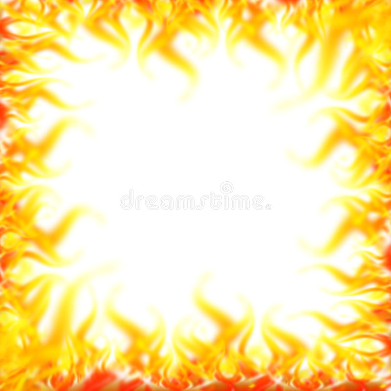 Fire border. Abstract fire border - computer generated vector illustration