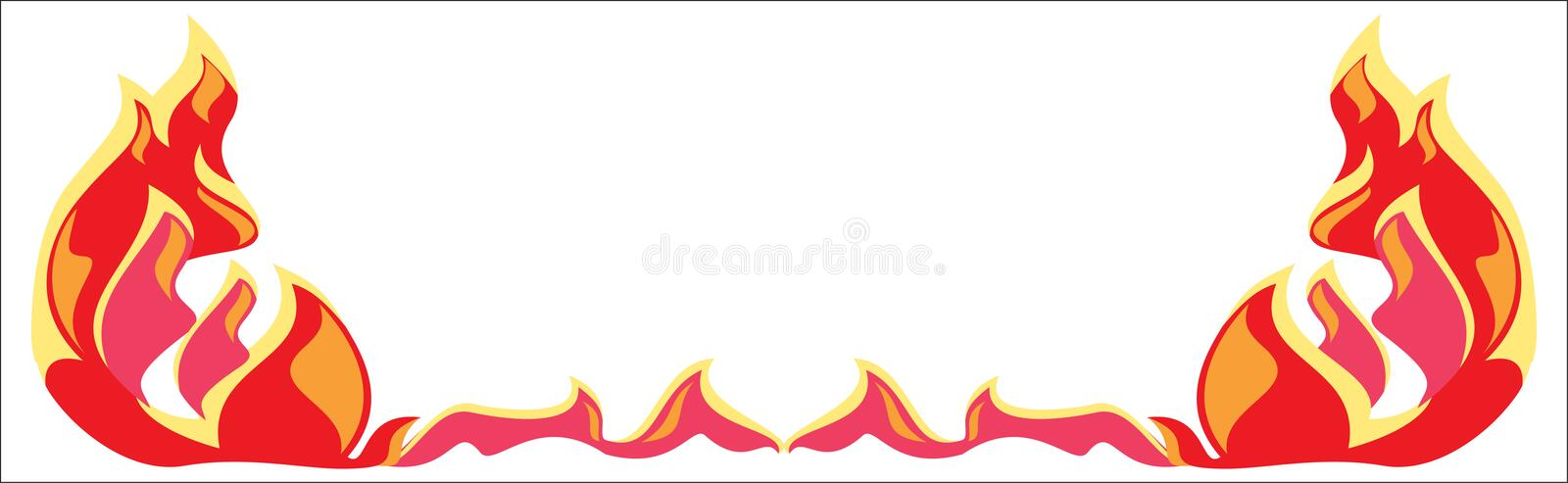 Fire border. Cute image for your design royalty free illustration