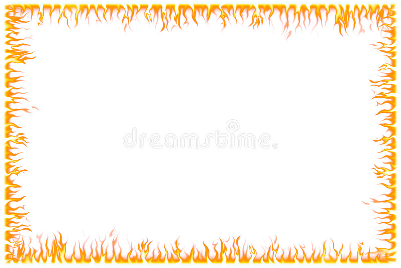 Fire Border. Abstract fire border - computer generated with adobe photoshop vector illustration