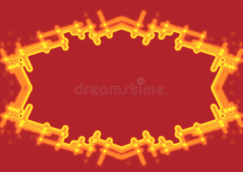 Fire border. Computer generated fire flame background vector illustration
