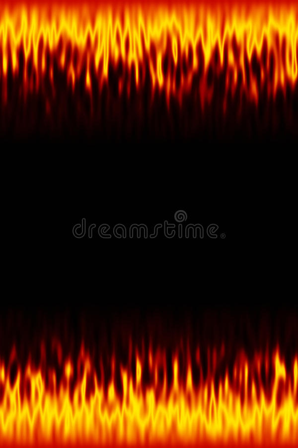 Fire border background. An image of a fire border background royalty free illustration