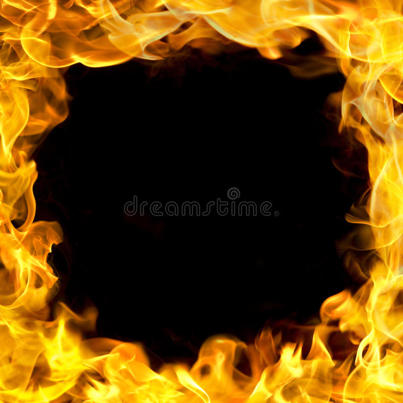 Download Fire border with flames stock image. Image of burning - 23041001