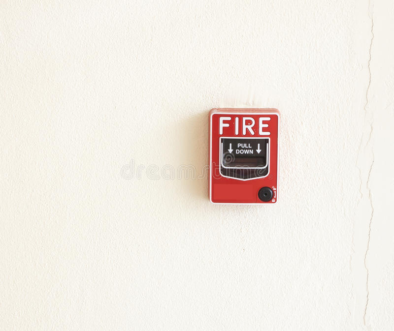 Fire break glass Fire alarm stock photography