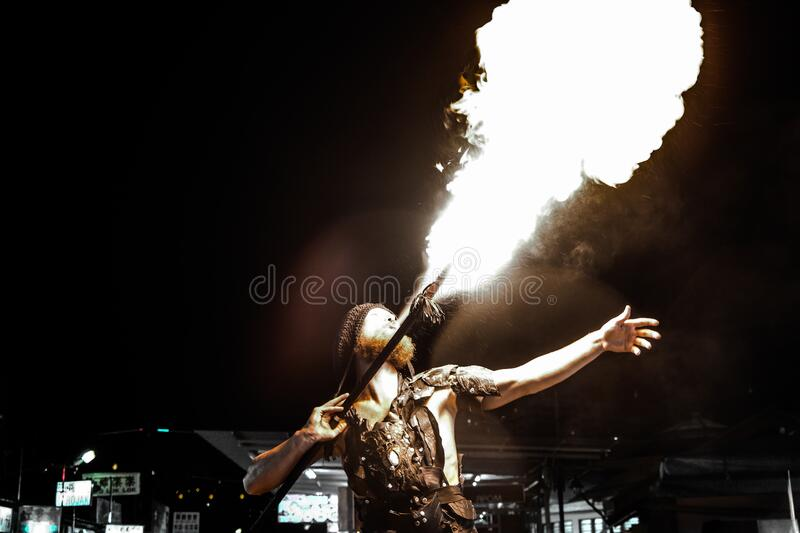 Fire breather stock images