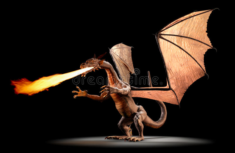 Fire Breathing Dragon royalty free illustration
