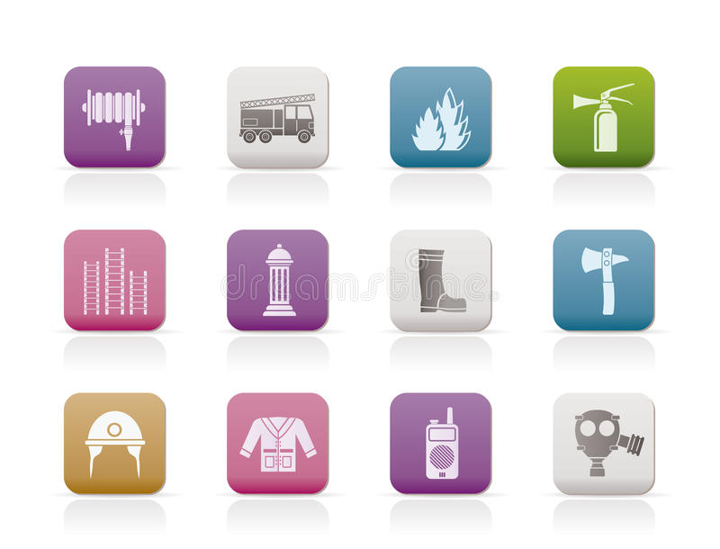 Download Fire-brigade And Fireman Equipment Icon Stock Vector - Image: 17789264